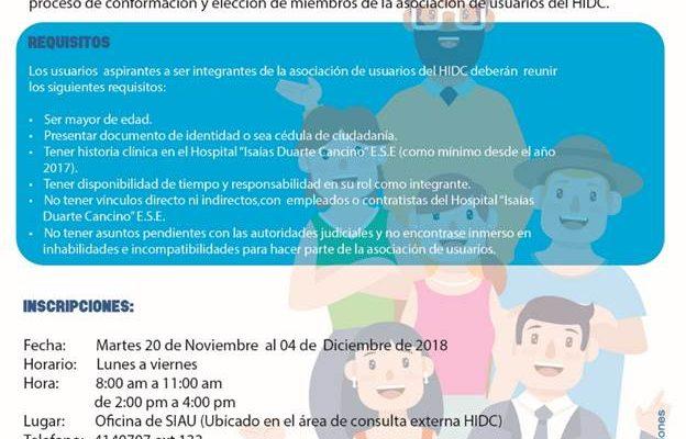 Conformación y Elección de los Miembros de la Asociación de Usuarios del HIDC